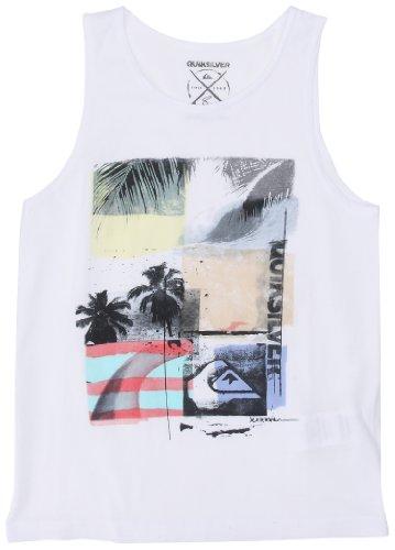 Quiksilver Herren Singlet K Checkmate Jungen T-Shirt Youth 158 weiß - weiß