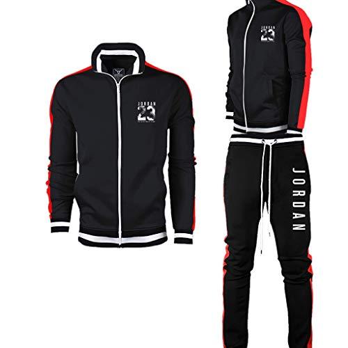 Chicago Bulls Jordan Bedruckte Jogging Anzug Trainingsanzug Sportanzug Sweatjacke, Zipper Sweatshirt Herren Jogginghose Sportbekleidung