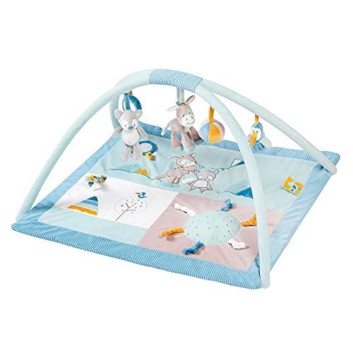 NATTOU Tapis d'Éveil avec Arche de Jeu Tim/Tiloo Bleu 74 x 68 x 45 cm