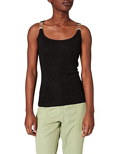 Morgan Tshirt 201-DIDA.N Camiseta, Negro, XS para Mujer