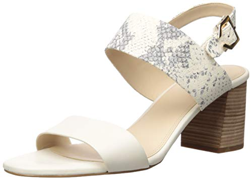 Cole Haan Women's G Wedge Sandal, IVORY/IVORY ROCCIA PRINT LEATHER/LIGHT NATURAL RAW STACKED, 10 B (M)