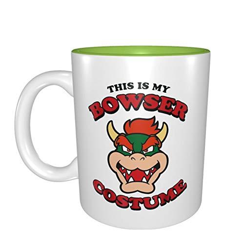 Disfraz de Bowser La mejor idea de regalo de cumpleaos para tazas de porcelana