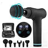 Oyria Hand-Held Muscle Massage Gun, Deep Tissue Personal Percussion Muscle Massager, Ultra-Quiet 30 Speeds Massager with 6 Massage Heads and LCD Display,Black - Best Reviews Guide