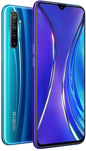 Realme XT (128GB, 8GB RAM) 6.4' AMOLED, 64MP Quad Camera, Snapdragon 712, Dual SIM GSM Unlocked, US + Global 4G LTE International Model - RMX1921 (Pearl Blue, 128GB + 64GB SD + Case Bundle)