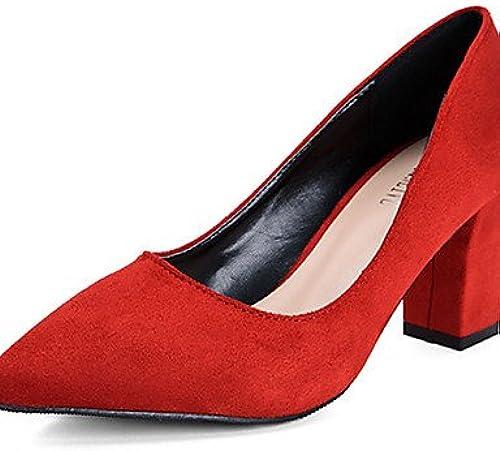 BGYHU Ggx Ggx polaire pour femme Chaussures d'été talons talons décontracté Chunky Talon d'autres Noir rose rouge gris  acheter pas cher neuf