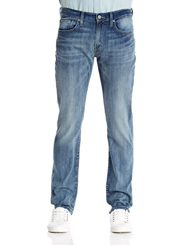Levi's 511 Slim Fit Jeans, Light Blue 0808, 33W / 34L Uomo
