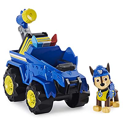 Paw Patrol, Dino Rescue Skye's Deluxe Rev Up Vehicle with Mystery Dinosaur Figure by PAW Patrol