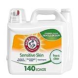 Arm & Hammer Sensitive Skin Free & Clear, 140 Loads Liquid Laundry Detergent, 210 Fl oz