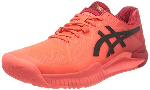 Asics Gel-Resolution 8 Tokyo, Tennis Shoe Hombre, Sunrise Red/Eclipse Black, 42 EU