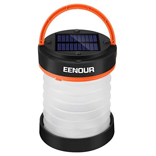 EENOUR LEDランタン ソーラーランタン USB充電式 キャンプランタン 高輝度 3段階調光 モバイルバッテリー機...