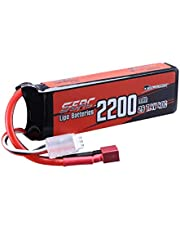SUNPADOW 2S Lipo Battery 7.4V 40C 2200mAh met T Plug voor RC Airplane Quadcopter Helicopter Drone Quadcopter FPV Model Racing Hobby