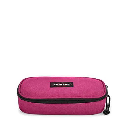 Eastpak Oval Single Astuccio, 22 cm, Tessuto glitterato, Rosa (Spark Pink)