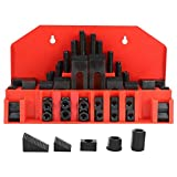 Jingyig Kit di serraggio, 58Pcs Bridgeport Mill Set, Universale per infissi e Piastre di Fissaggio Modelli Fresatrice CNC Foratrice