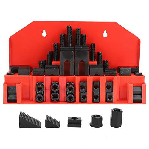 Kit de sujeción, Bridgeport Mill Set, 58Pcs Universal para plantillas de fijación de fresadoras CNC