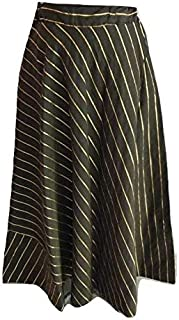 SNEH Women's Silk Skirt (Black,Free Size)