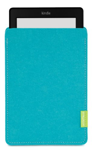 WildTech Sleeve für Kindle Paperwhite - 17 Farben (Handmade in Germany) - Türkis