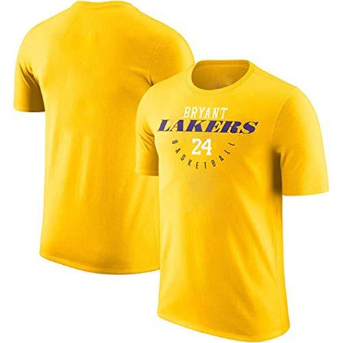 Gwgbxx Camiseta de Manga Corta de la NBA Thunder James Harden George Leonard Letra  Baloncesto (Color : Yellow, Size : XS)
