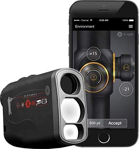ATN Laser Ballistics 1500 Smart Laser Rangefinder w/Bluetooth, Device Works with Mil and MOA scopes Using Ballistic Calculator App, Black