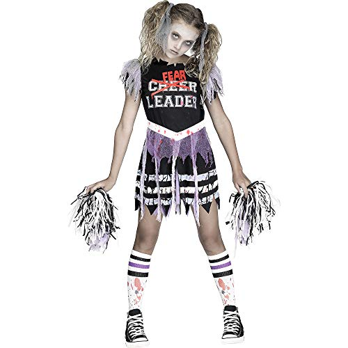 Fun World Zombie Fearleader Costume, Medium 8 - 10, Multicolor