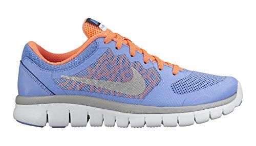 Nike Unisex-Kinder Flex 2015 Run (GS) Laufschuhe, Mehrfarbig (Chalk Blue/Metallic Silver/Obsidian White 401), 36.5 EU
