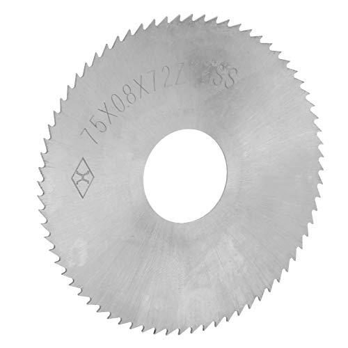 Accesorios De Disco De Corte De Hoja De Sierra Circular De 72 Dientes De Acero De Alta Velocidad, 75 X 0.8 X 22 Mm