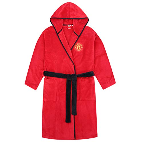 Manchester United FC - Jungen Fleece-Bademantel - Offizielles Merchandise - Geschenk für Fußballfans - 3-4 Jahre