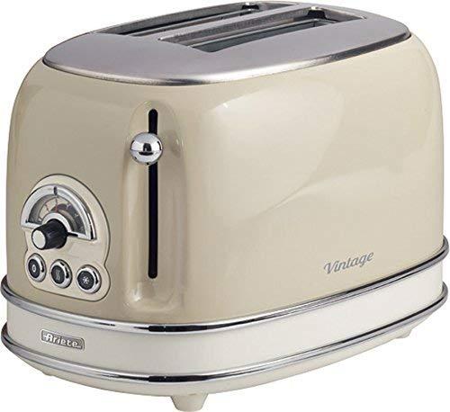 Ariete 155/03-beige 155 Toaster 2 Scheiben Vintage Beige, Metall