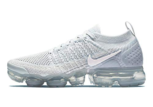 Nike Womens Air Vapormax Flyknit 2 Pure Platinum/Arctic Pink-White Size 7
