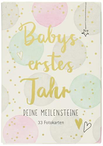 Fotokarten-Box - Babys erstes Jahr - Deine Meilensteine: 33 Fotokarten (Alben & Geschenke fürs Baby)