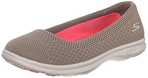 Skechers Performance Women's Go Step Primary Walking Shoe, Taupe Mesh, 6.5 M US