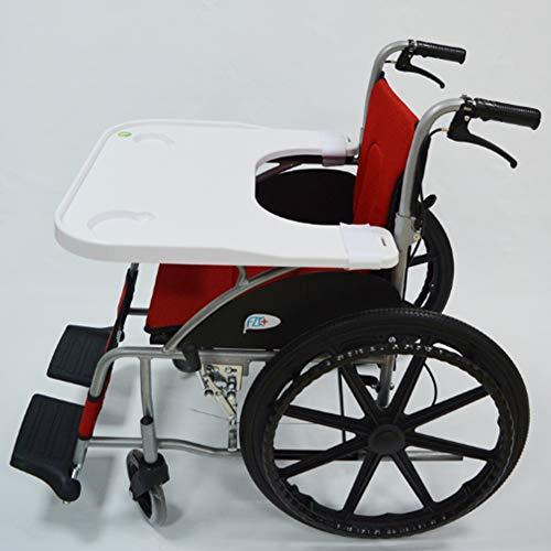 Rollstuhl Tablett Tisch mit 2 Becherhalter, Medical tragbar Knietablett Zubehör Kind Stuhl Tablett Schreibtisch für Essen Snack, Lesen Economy Rollstuhlzubehör
