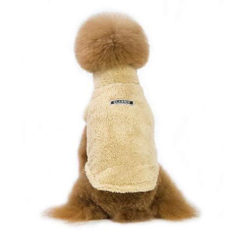 Xinger Warme Hondenkleding Leuke Warme Casual Jassen met Kraag voor Winter en Herfst Puppy Doek voor Puppy Hondenkleding, Bruin, S