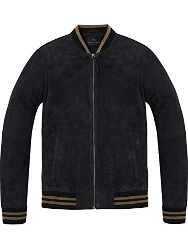 Scotch & Soda Heren Suede Bomberjack, Zwart