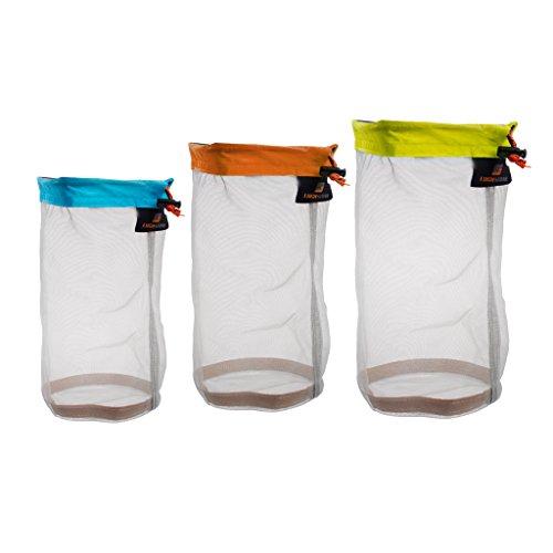 3 sacs avec cordon ajustable ultrafin pour camping, randonnée, alpinisme, sports Multicolore Différentes tailles