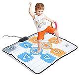 Annadue Alfombrilla de Baile, Alfombrilla de Baile Antideslizante para Dos Personas para Consola Nintendo Wii Juego, Plug and Play. (Suave, Duradero, cómodo, pequeño, Todo Sellado y portátil).