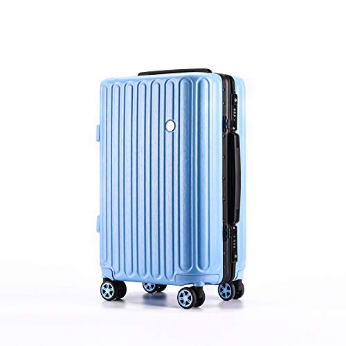 XIANGSHAN ABS + PC Material Simple Trolley Case, Stylish Zippered Luggage Case, Roller Walking Scroll Box,20' 24' 26' (Color : White, Size : 20inch)