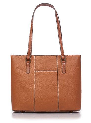 Korvara Womens Tote Bag, Tan - Vegan Leather Large Shoulder Bag for Women