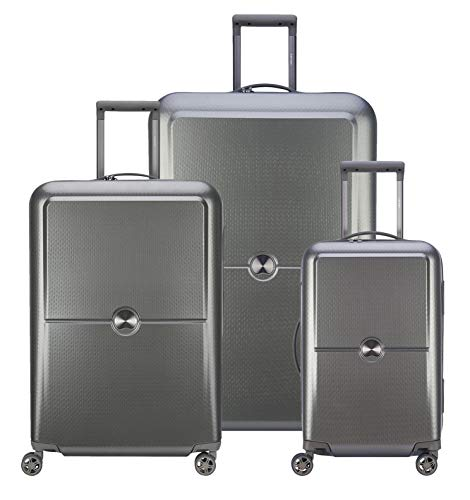 DELSEY Paris Turenne Hardside Luggage with Spinner Wheels, Titanium, 3-piece Set (21/25/30)
