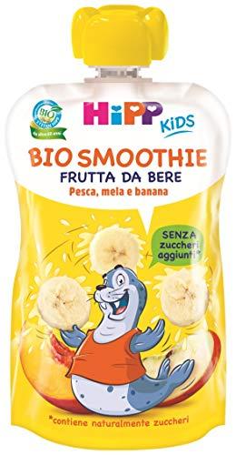 HiPP - Smoothies Bio, Gusto Mela, Banana E Pesca, 6 Confezioni Da 120 Ml - 720 g