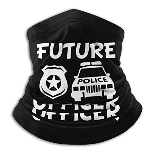 Future Police Officer Seamless Scarf Men'S And Women'S Washable Reusable Microfiber Neck Gaiter For Cycling Travel Outdoor