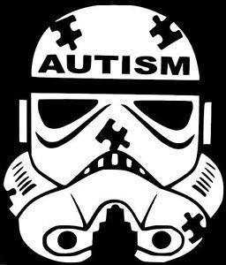 Chase Grace Studio Calcomanía de vinilo para concientización sobre autismo habla autismo, color bl