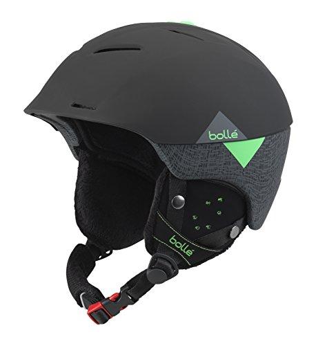 bollé Synergy, Casco da Sci Unisex – Adulto, Soft Black/Green, 54-58 cm