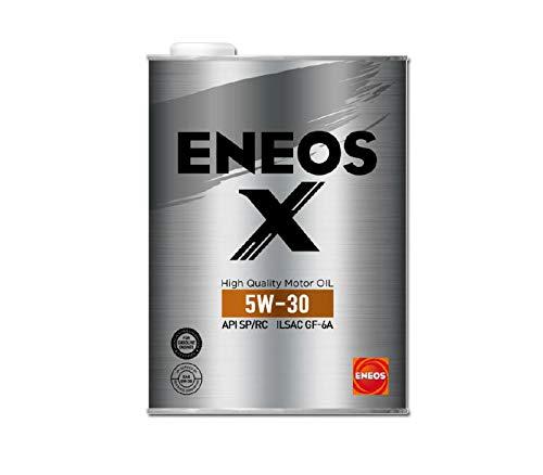 ENEOS X (エネオス エックス) ハイクオリティ モーターオイル エンジンオイル 5W-30 SP/RC GF-6A 部分合成油 4L缶
