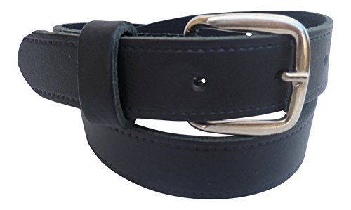 Streeze 24mm Ledergürtel für Jungen. Schwarzer Kinderledergürtel Schulgürtel (66cm - 70cm Taille, Schwarz)