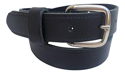 Streeze 24mm Ledergürtel für Jungen. Schwarzer Kinderledergürtel Schulgürtel (36cm - 42cm Taille, Schwarz)