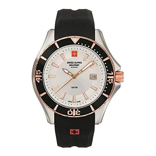 Swiss Alpine Military 7040 - Reloj analógico de cuarzo para hombre (silicona)