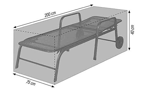 acamp beschermhoes voor ligbed of driepoot, tuinmeubelen, antraciet, 200 x 75 x 40 cm