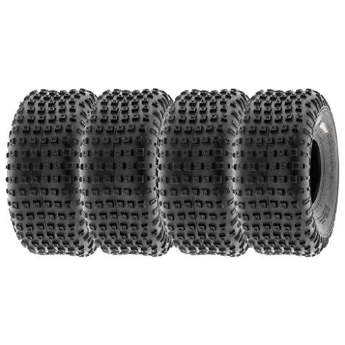 "SunF 15x7-6 15x7x6 Tubeless 6 PR 15"" ATV UTV Tires A011 [Set of 4]"
