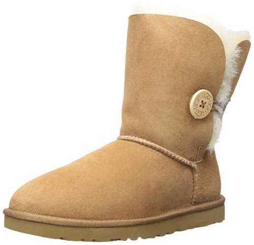 Ugg Bailey Button 5803, Stivali Donna, Chestnut, 37