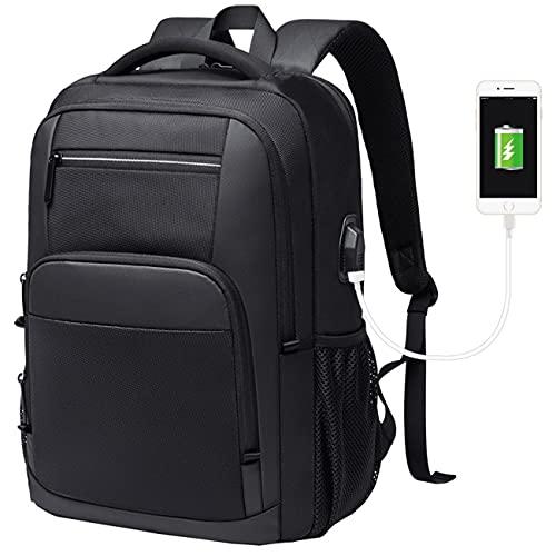 HOTRA Viajes Laptop Mochila Se Adapta Al Portátil Resistente Al Agua Casual Daypack Mochila De Trabajo Grande para Viajes De Negocios, Colleg, Womene, Hombres (Color : Black, Size : As Shown)